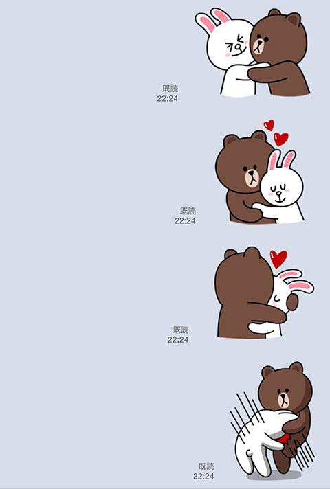 くまのキャラクター「ブラウン」がキチガイなLINEスタンプの画像02